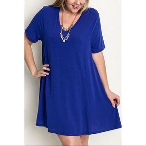 Umgee USA cobalt blue t-shirt dress